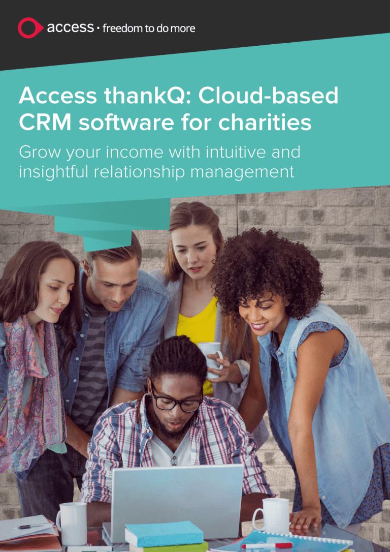 Access thankQ: Brochure copywriting page 1
