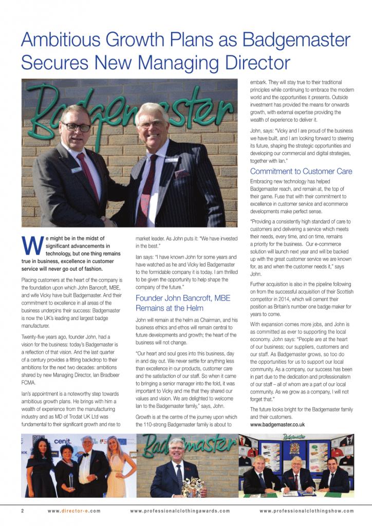 Badgemaster: Magazine article