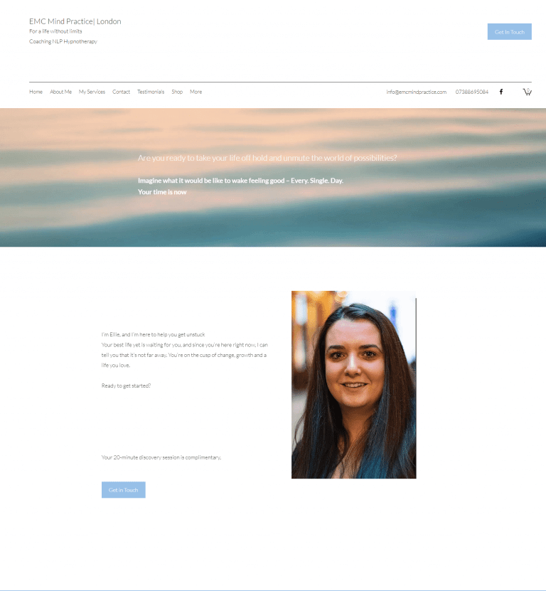 EMC Mind Practice website copy - about page