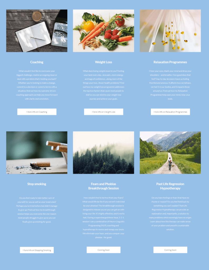 EMC Mind Practice website copy - services page