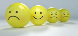 Smiley faces depicting tone of voice for article