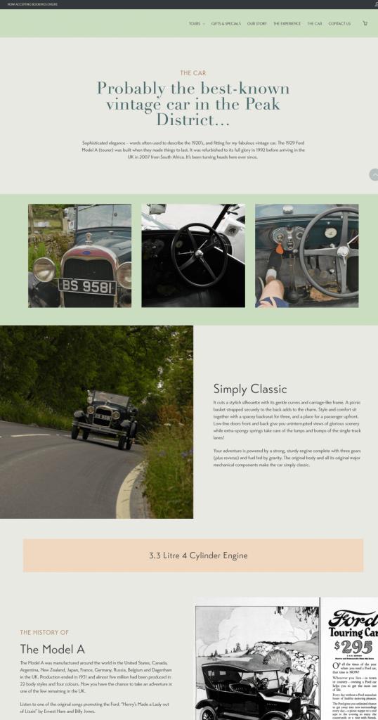 Vintage Adventure Tours website copy: Car page
